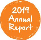 Annual Report Button Orange
