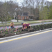 Workers Planting on Traffic Calming Island